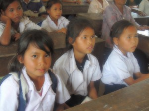 Lotus welcomes the next generation of girls to our project in Laos 2014.