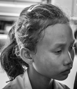 Lotus students start Grade 6 2013 - © Luis Murillo/Lotus Educational Fund