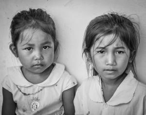 Lotus girls waiting to be registered to start school 2013 - © Luis Murillo/Lotus Educational Fund